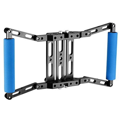 Neewer Director's Monitor Cage for 4 inch/5 inch/7 inch Camera Field Monitor, Includes Neewer NW759/74K/760 Feelworld FW759/759P/760/74K Aputure Lilliput Blackmagic Atomos Pangshi Ikan and More(Blue) by Neewer
