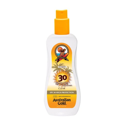 Australian Gold SPF 30 Plus High Protection Water Resistant Spray Gel 237ml AGSPF30Gel