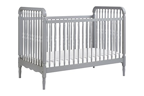 Million Dollar Baby Classic Liberty 3-in-1 Convertible Crib with Toddler Bed Conversion Kit, Grey