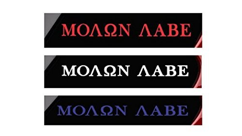 CMI449-3-Pack-1-Red-1-White-1-Blue-Molon-Labe-COME-AND-TAKE-THEM-vinyl-decal-stickers-1075
