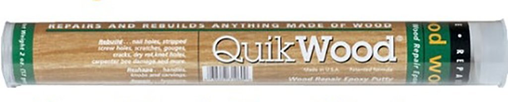 QuikWood Epoxy Putty Stick for Wood Repair and Rebuilding Polymeric Systems Inc. (7'' Tube) (18 Tubes)