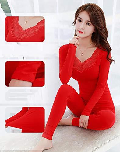 Solid Traspirante 6077 Donna Underwear Termico Color Da Soft Qiuku Set Qiuyi Sottile qxvXxPa