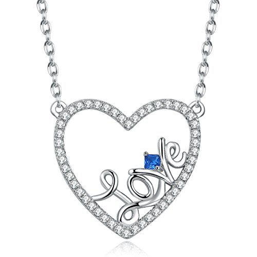 Caperci Sterling Silver Love Open Heart Pendant Necklace Women Girls, 18'' by Caperci (Image #7)