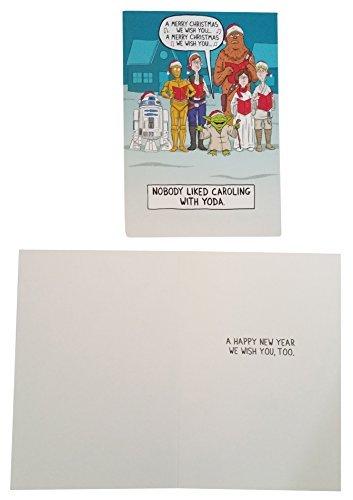Hallmark Disney Star Wars Glitter Christmas Cards Box Set of 16 Cards with -