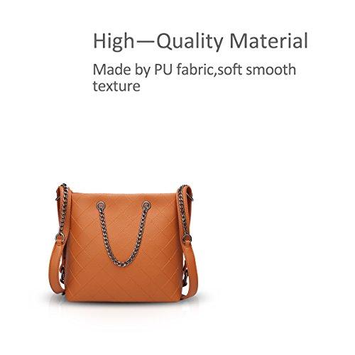 hombro Bags larga correa NICOLE Crossbody Marrón Chain Classic Chic DORIS de con amp; Bolso Handbags xvvgqXO