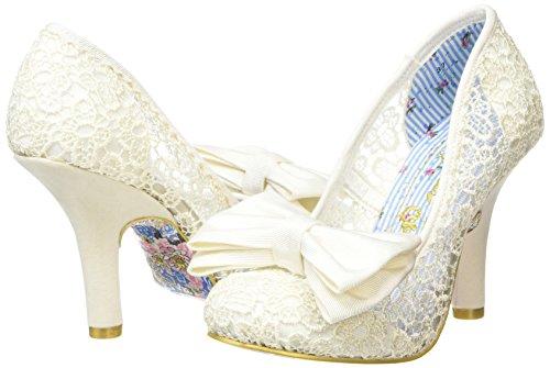 Cassé Mal Escarpins cream Choice Bow E Blanc Irregular Off Femme White 5Pqw0IPxap