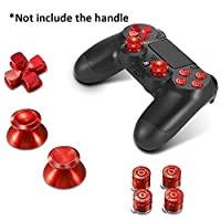 Hainter Controller Buttons 7PCS Controller Metal Buttons Set Mushroom Head + Cross Key + Function Key Metal ABXY Button Spare Parts Accessories