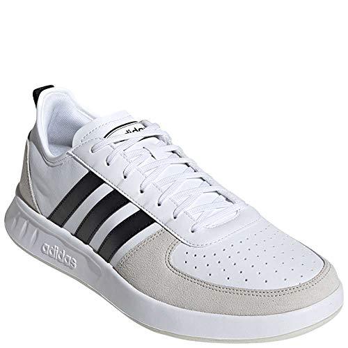 adidas Men's Court80s Sneaker, White/Black/raw White, 11 M US (Adidas Vintage Sneakers)