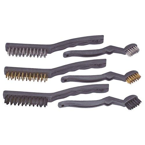 Detail 6 Pieces - 6-Piece Detail Wire Brush Set Nylon Steel Brass