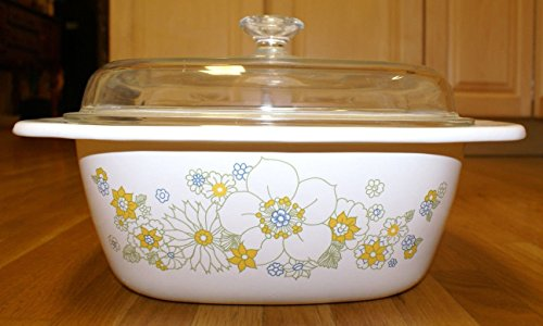 Corning Ware Floral Bouquet Dutch Oven Casserole Baking Dish P-34-b