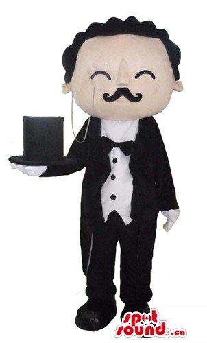 Detective Poirot Cartoon character SpotSound Mascot US costume fancy dress
