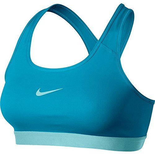 Nike Women's Pro Classic Training Sports Bra-Photo Blue-Medium