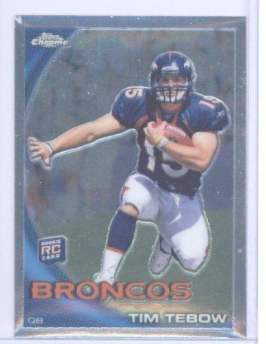 2010 Topps Chrome Football Rookie Card #C100 Tim Tebow Denver Broncos (2X NCAA Champion & Heisman Trophy Winner) ()