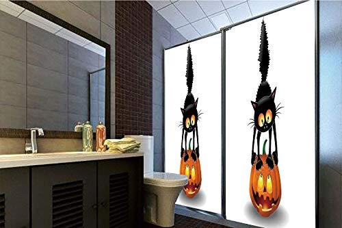 Horrisophie dodo 3D Privacy Window Film No Glue,Halloween