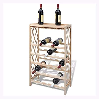 K&A Company Wine Rack for 25 Bottles Wood