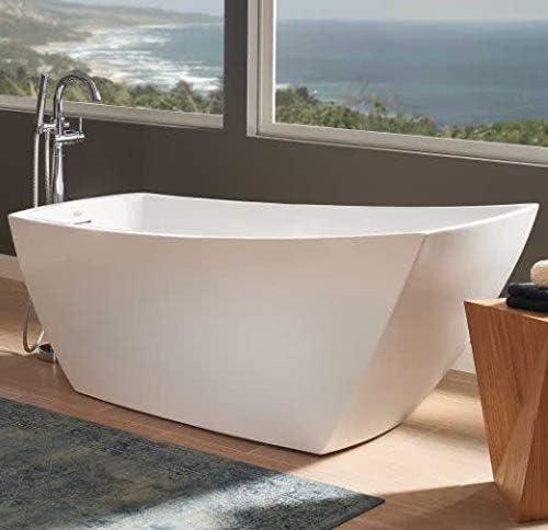 Jacuzzi Stf6731buxxxxw Stella 67 Soaking Freestanding Bathtub