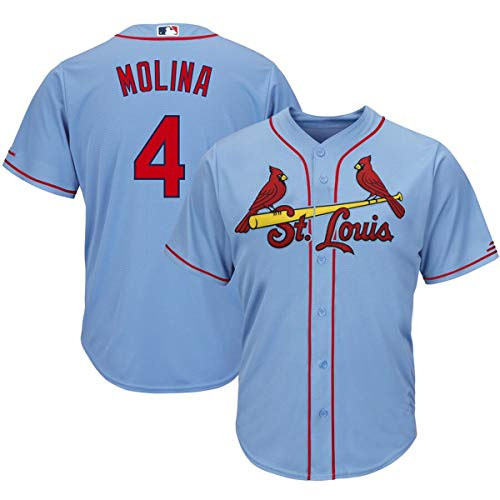 Men's #4 Yadier Molina St. Louis Cardinals Cool Base Player Jersey