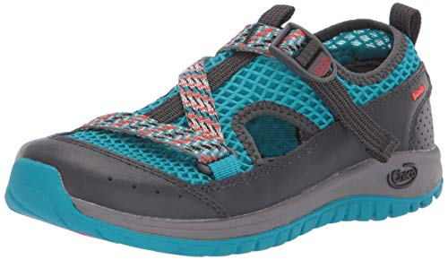 Chaco Boys' Odyssey Water Shoe, Teal, 5 M US Big -
