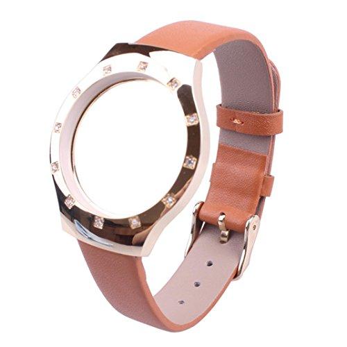 - Alonea Diamond Leather Watch Band Strap For Misfit shine Bracelet Smart WristBand