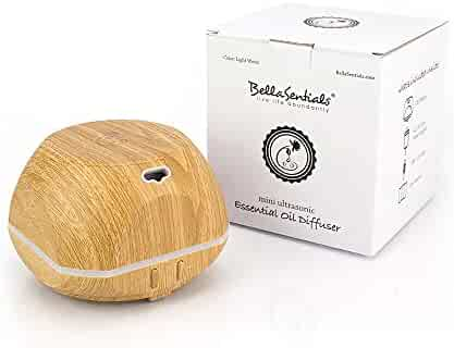 BellaSentials Essential Oil Diffuser & Cool Mist Humidifier Perfect Air Freshener To Eliminate Any Embarrassing Odors By Using Aromatherapy Our Aroma Diffuser Runs Up to 4 Hours - Light Bamboo