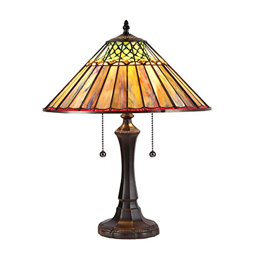 Chloe Lighting CH35002BG16-TL2 Grace Tiffany-Style Table Lamp with 16