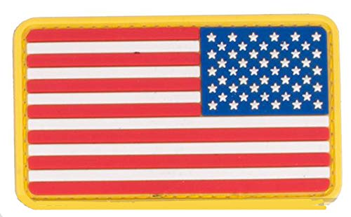 - Morton Home US Flag PVC Hook and Loop Rubber Patch (Reverse/Red White & Blue)