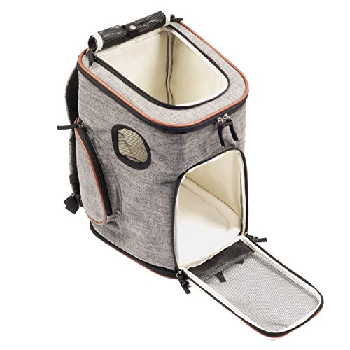 67be2377dfd5 Pawfect Pets Pet Carrier Backpack for Cats and Toy Breed/Extra Small Dogs-  Airline