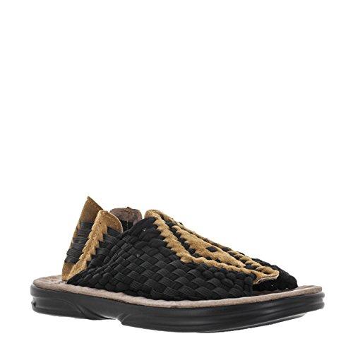 VLADO Footwear Mens Aztac Black/Brown Woven Nylon Sandal US 8 mOCSrLSW