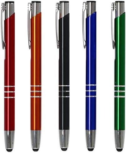 dunkelblau aus Metall 10 Touchpen Kugelschreiber mit Gravur Farbe