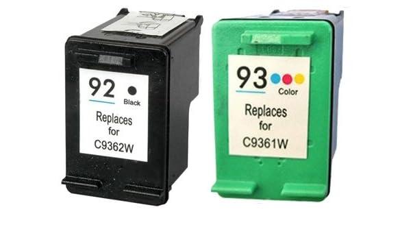 SuppliesOutlet Compatible HP 92 y 93 juego de cartuchos de tinta ...