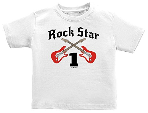 1st Birthday Gifts 1st Birthday Gift Rock Star Rock n Roll Infant T-Shirt 12 Months White