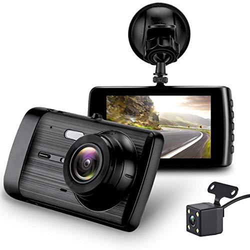 Dash Cam, Car Camera Dashboard Camera Recorder Dual Camera Car DVR Inside – Outside Surveillance1080P HD Night Vision, Wide-Angle Car Video Recorder with 4 inch Display Video G-Sensor Loop Recordin