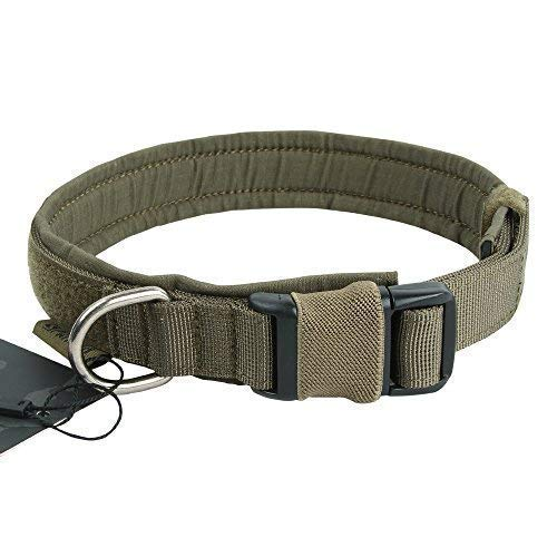 EXCELLENT ELITE SPANKER Puppy Dog Collar Nylon Adjustable Quick Release Dog Collar for Large Medium Small Dog Soft Padded Pet Collar(RGN-M) ()