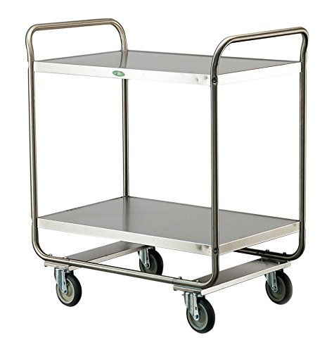 Lakeside 243 Tubular Frame Stainless Steel Utility Cart, 500 lb. Capacity, 2 Shelves, 22'' x 36'' x 40-5/8'' by Lakeside Manufacturing