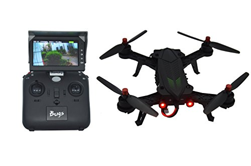 Blomiky B6FD Bugs 6 5.8G Racing High Speed Motor Brushless B6 Quadcopter Drone with 5.8G HD 720P FPV Camera and 5.8G Display B6FD