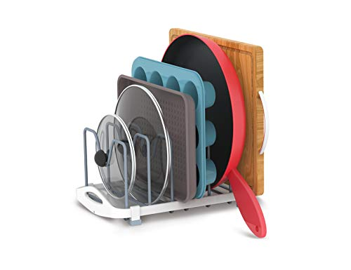 Kitchen EVERIE Pot Lid Organizer for Pots, Pot Lids, Cake Molds, Cutting Boards, Mats, Dishes, Plates, Bakeware, Cookware pot lid holders