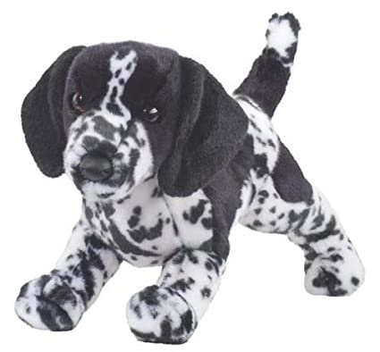"Hunter Blk/Wht Pointer Plush Toy 16"" ..."