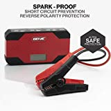 Genie ReliaVolt 400A Peak 12000mAh Car Jump Starter and Battery Booster, Phone Charger Portable Power Pack - Safely Jumpstart Your Car & Charge Your Phone Easily