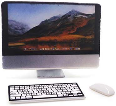 1/12スケールホームオフィスミニチュアコンピューターキーボードマウスセットドールハウス装飾用