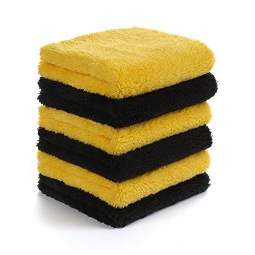 "Edgeless Microfiber Polishing Cloths - Microfiber Towels for Cars - Edgeless Microfiber Towel - Compact 12""x12"" Car Drying Towel - 540gsm - Microfiber Cleaning Cloth for Cars - Car Wash Stuff – 6 Pack"