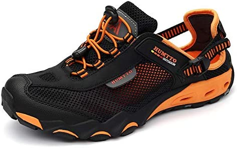 1077bfe8a09f5 HUMTTO Mens Sport Strap Sandals-Hiking Canyoning aquatc Amphibious ...