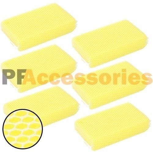 6x Nylon Mesh Bug Soft Scrubber Sponge for Car Wash NO SCRATCH on Glass & - For Scratch Glasses Filler