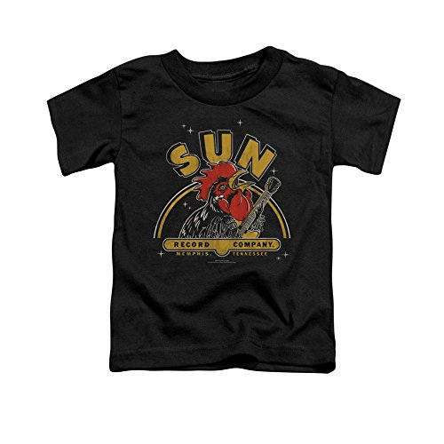 Sun Records Rocking Rooster Toddler T-Shirt 3t Black -