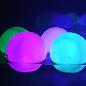 Set Of 12 Mood Light Garden Deco Balls (Light Up Orbs) With Two 5