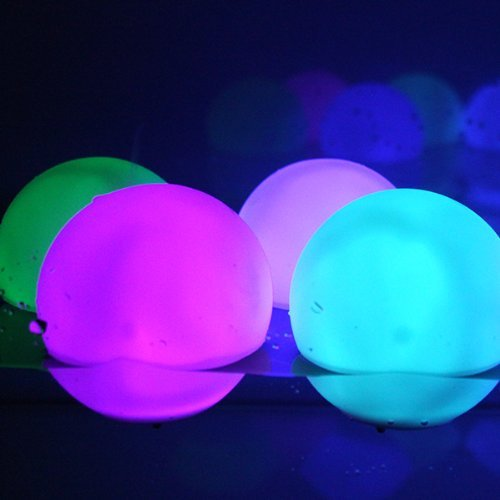 Set Of 12 Mood Light Garden Deco Balls (Light Up Orbs) With Two 5-Packs Of Spare Replacement Batteries - Bundle: 14 Items by MicroTronixx
