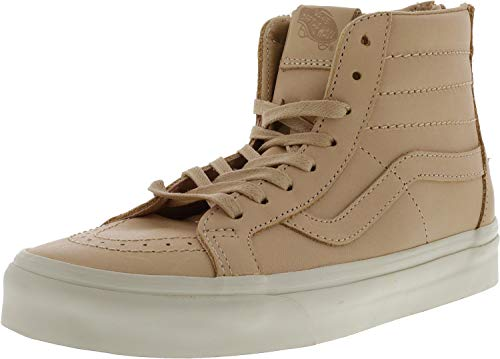 Comfortable Signature Top Skate Waffle and Veggie Leather High in Rubber Sole Hi Tan Unisex Vans Durable Sk8 Shoes Tan Casual Xq7Y87w