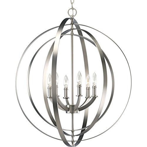 Progress Lighting P3889-126 6-60-Watt Chandelier Sphere Foyer Lantern, 27.75 x 27.75 x 30