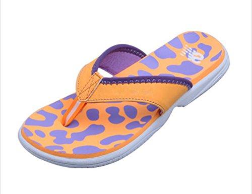 flip-folps Happy Lily ergonómico y antideslizante suela zapatos de piscina Y-STYLE Tanga abierto Toe sandalias zapatos de interior o al aire libre Casual Calzado Zapatillas para mujer naranja