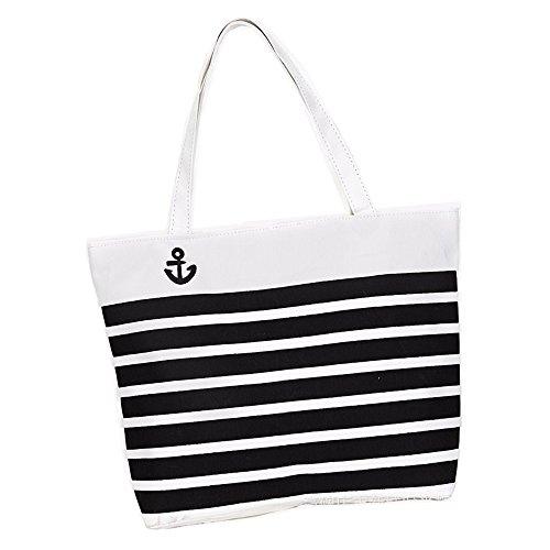 donne ragazze moda lettera banda stampa tela sacchetto di spalla tote bag Borsa a tracolla Borse a mano, bianco