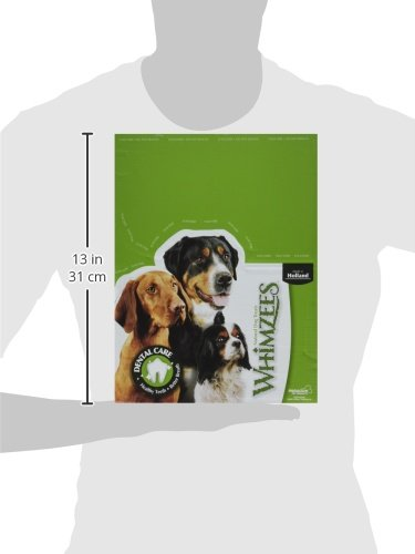 Image of Whimzees Paragon Pet Products USA Veggie Sausage Dental Treat- Brown Xl/30 Piece